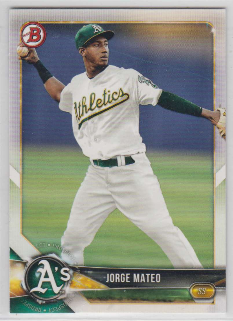 2018 Bowman Prospects Jorge Mateo #BP95 card front image