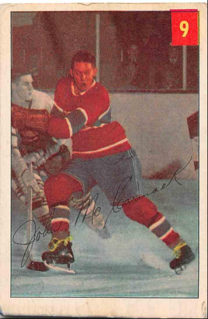 1954-55 Parkhurst John McCormack #9 card front image