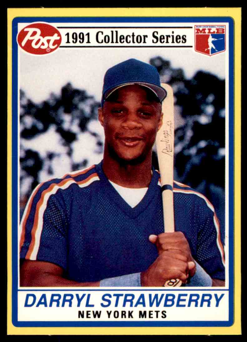 1991 Post Collector Series Oddball Darryl Strawberry 7 Of 30