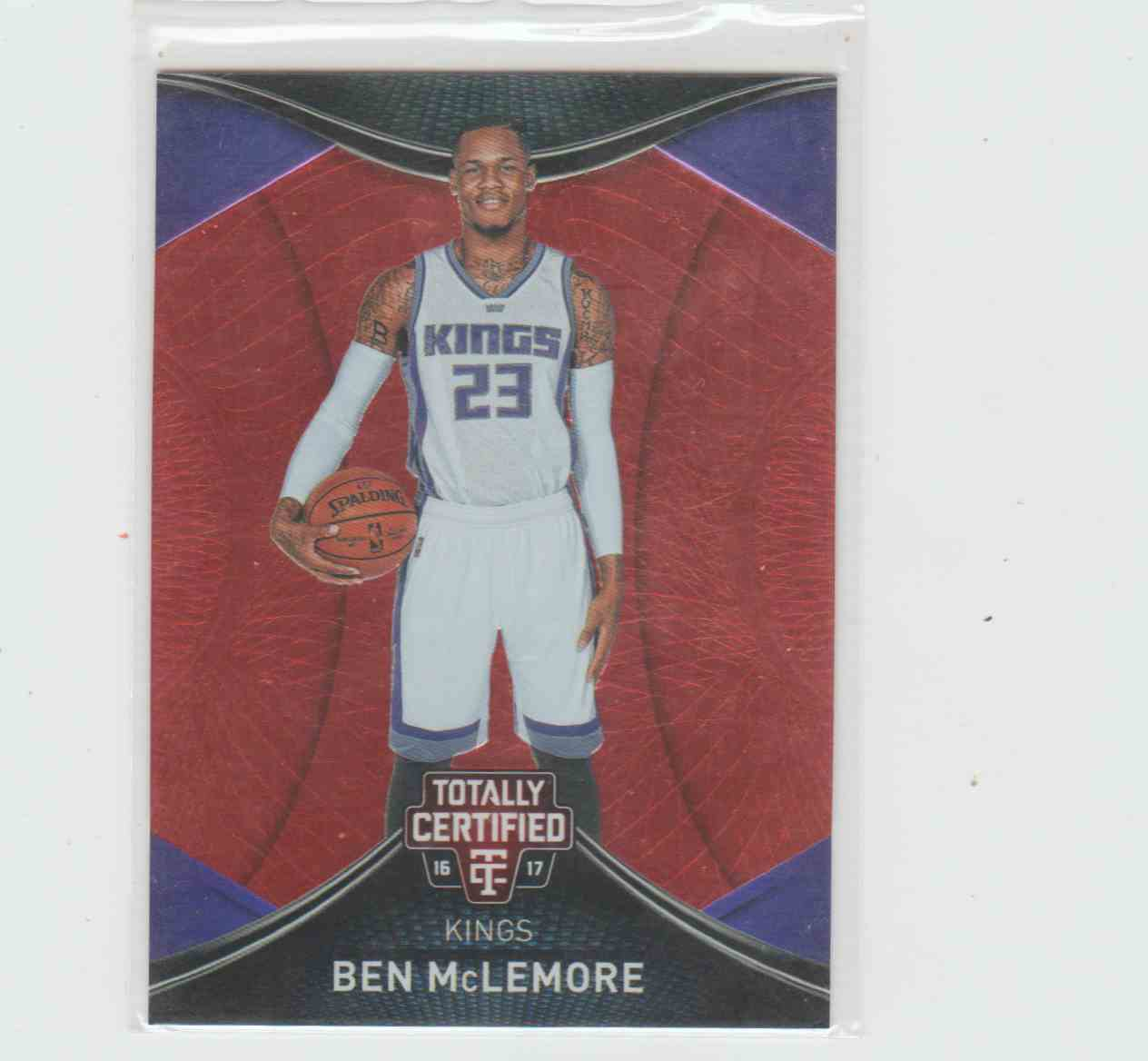 2016-17 Panini Panini Totally Certified Totally Certified Red Ben Mclemore 166/199 #20 card front image