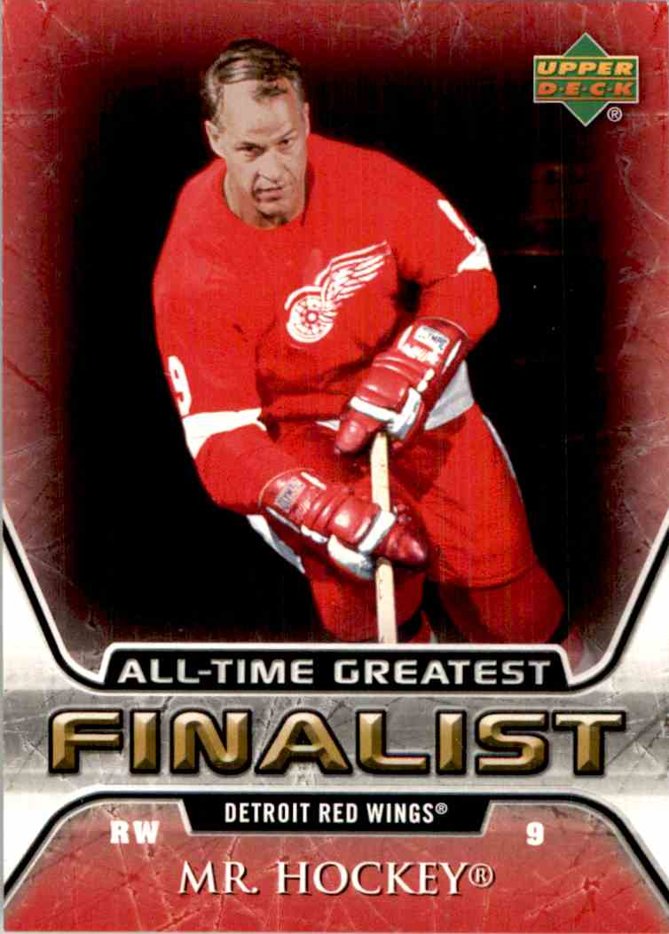 2005-06 Upper Deck All Time Greatest Gordie Howe #21 card front image
