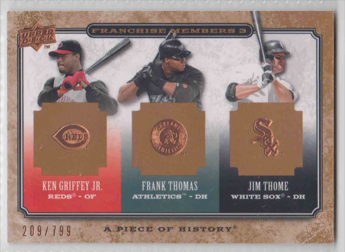 2008 A Piece Of History Franchise Members 3 Ken Griffey Frank Thomas Jim Thome