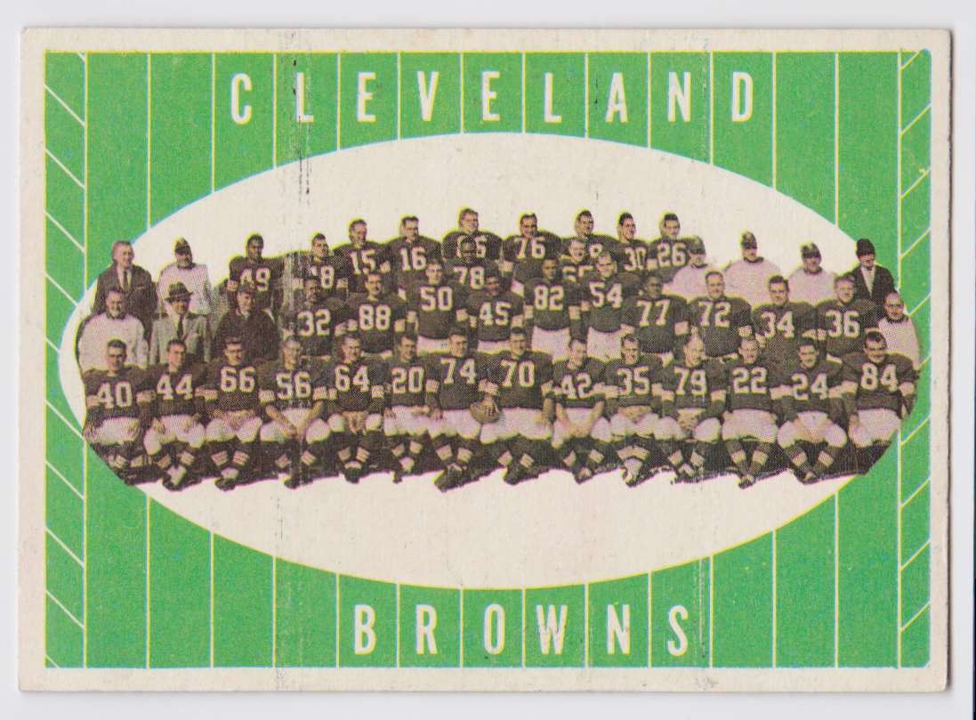 1961 Topps Browns Team #76 card front image