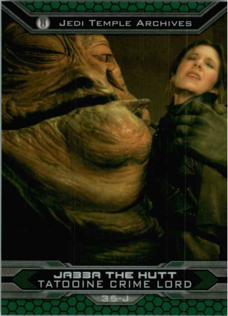 2015 Topps Chrome Star Wars Jedi Temple Archives Jabba The Hutt #35-J card front image