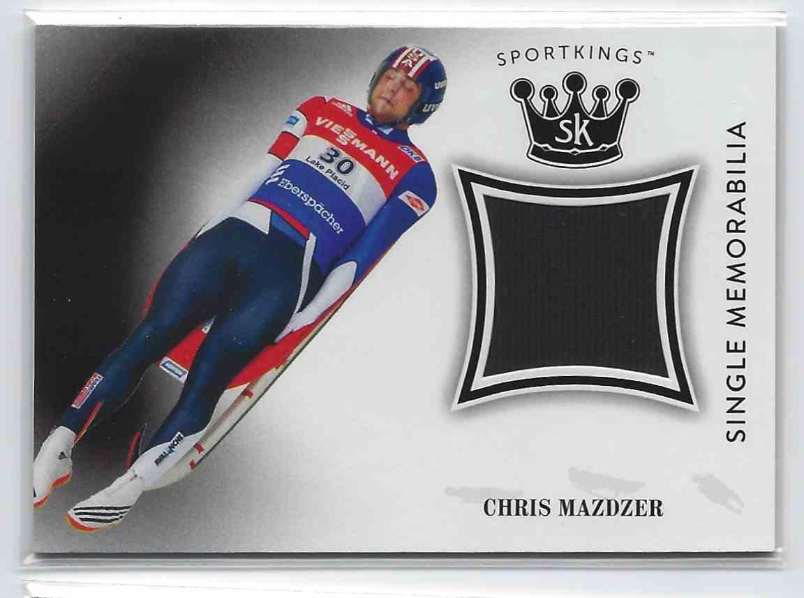 2018 Sportkings Single Memorabilia Chris Mazdzer #SM-CM2 card front image