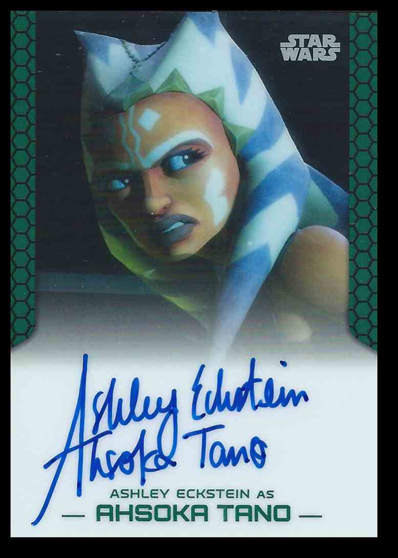 2015 Topps Chrome Star Wars Perspectives Ashley Eckstein / Ahsoka Tano #NNO card front image