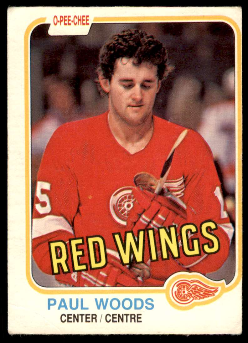1981-82 OPC Paul Woods #104 card front image