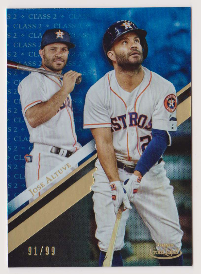 2019 Topps Gold Label Class 2 Jose Altuve #27 card front image