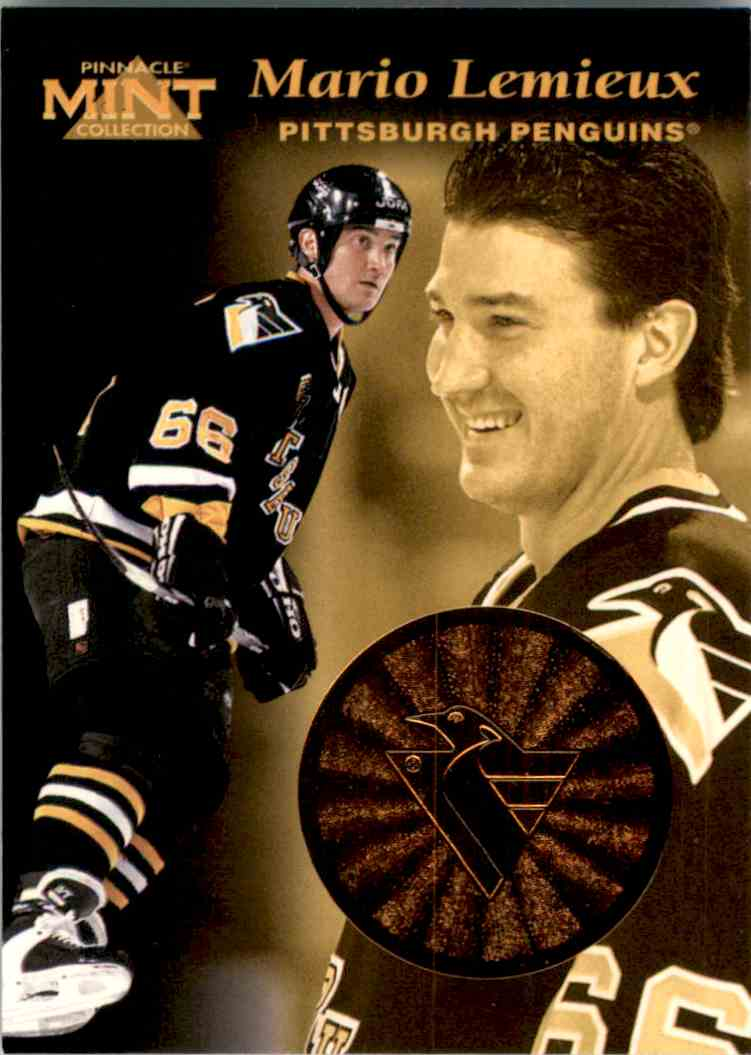 1996-97 Pinnacle Mint Bronze Mario Lemieux #1 card front image