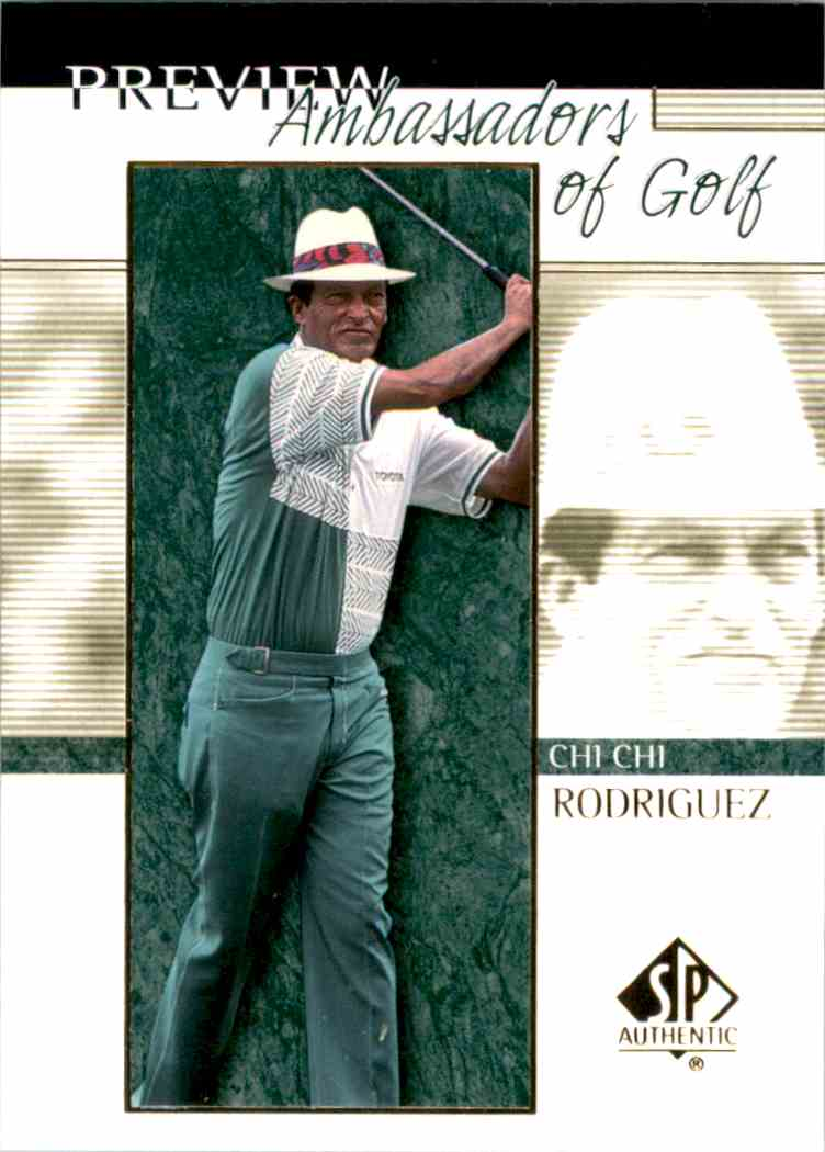 2001 SP Authentic Preview Chi Rodriguez Ag #60 card front image