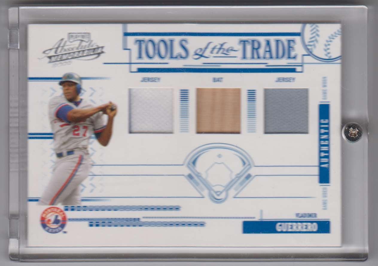 2005 Absolute Memorabilia Tools Of The Trade Swatch Triple Vladimir Guerrero #TT-27 card front image