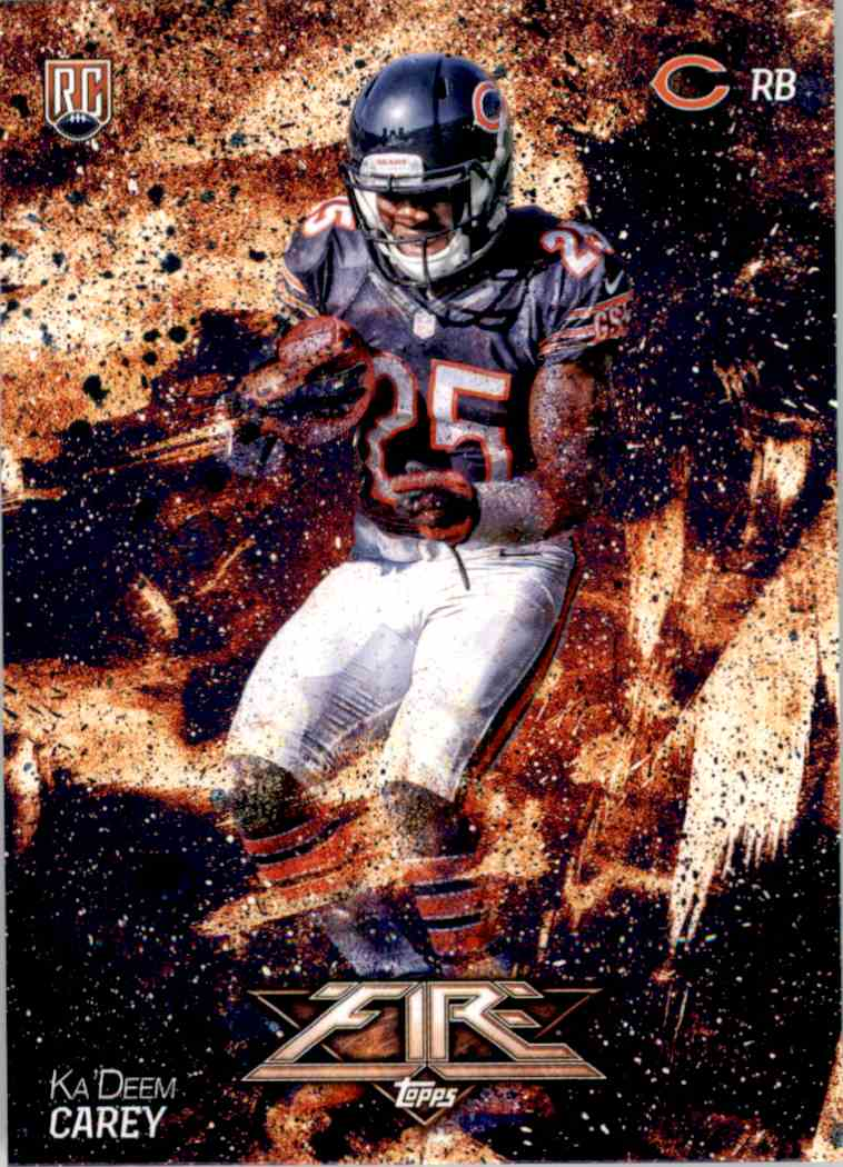 2014 Topps Fire Ka'Deem Carey RC #140 card front image