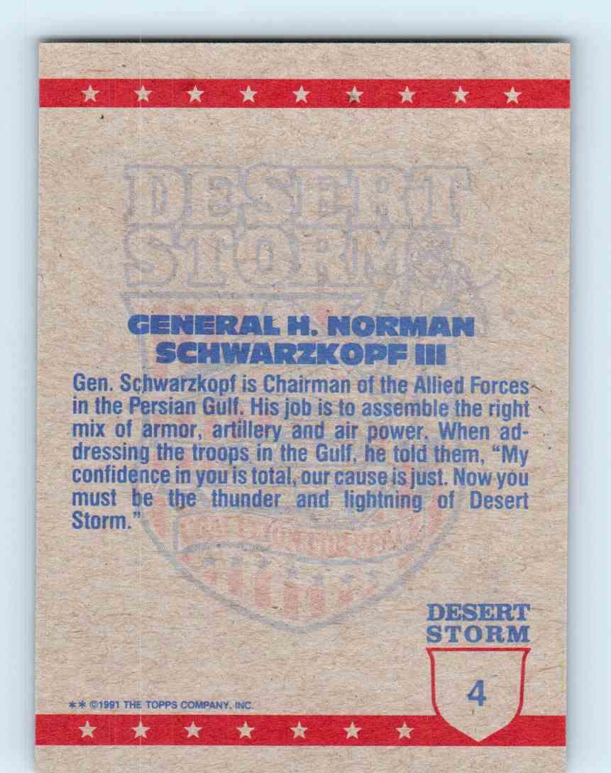 GENERAL H.NORMAN SCHWARZKOPF #4 1991 DESERT STORM ****FREE SHIPPING****