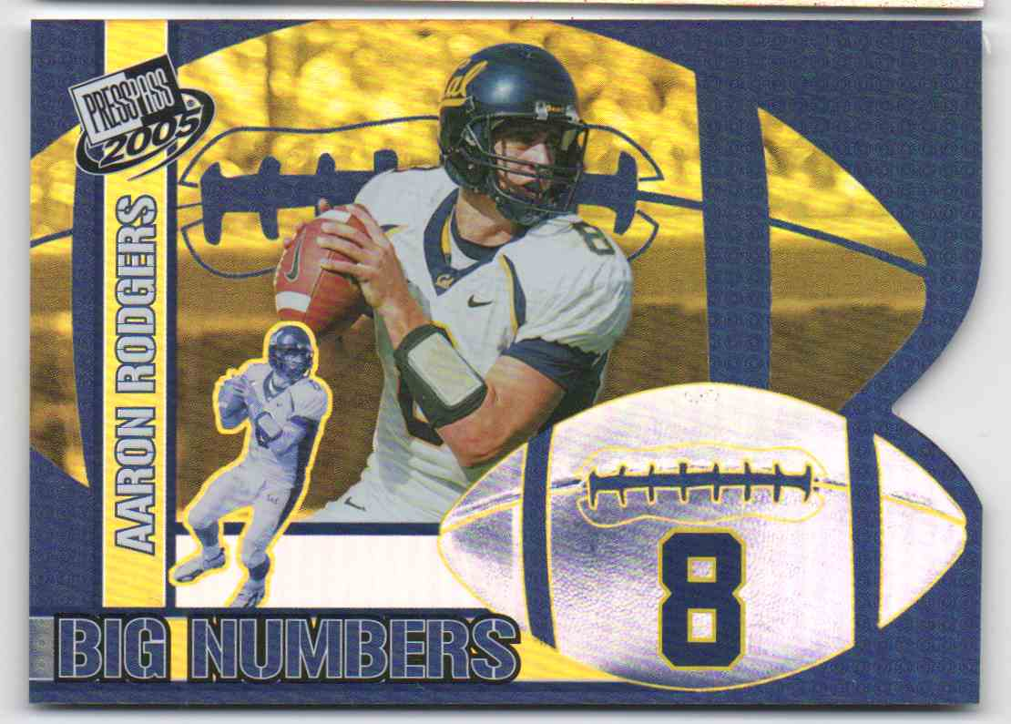 2005 Press Pass Big Numbers Aaron Rodgers Rookie Bn17