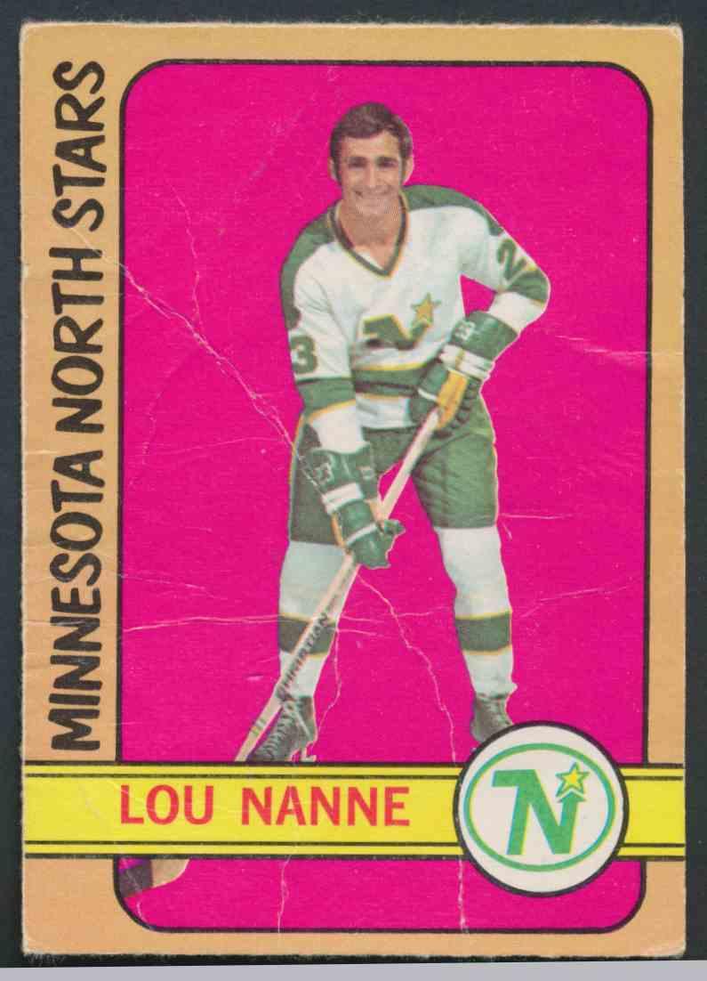 1972-73 O-Pee-Chee Lou Nanne card front image