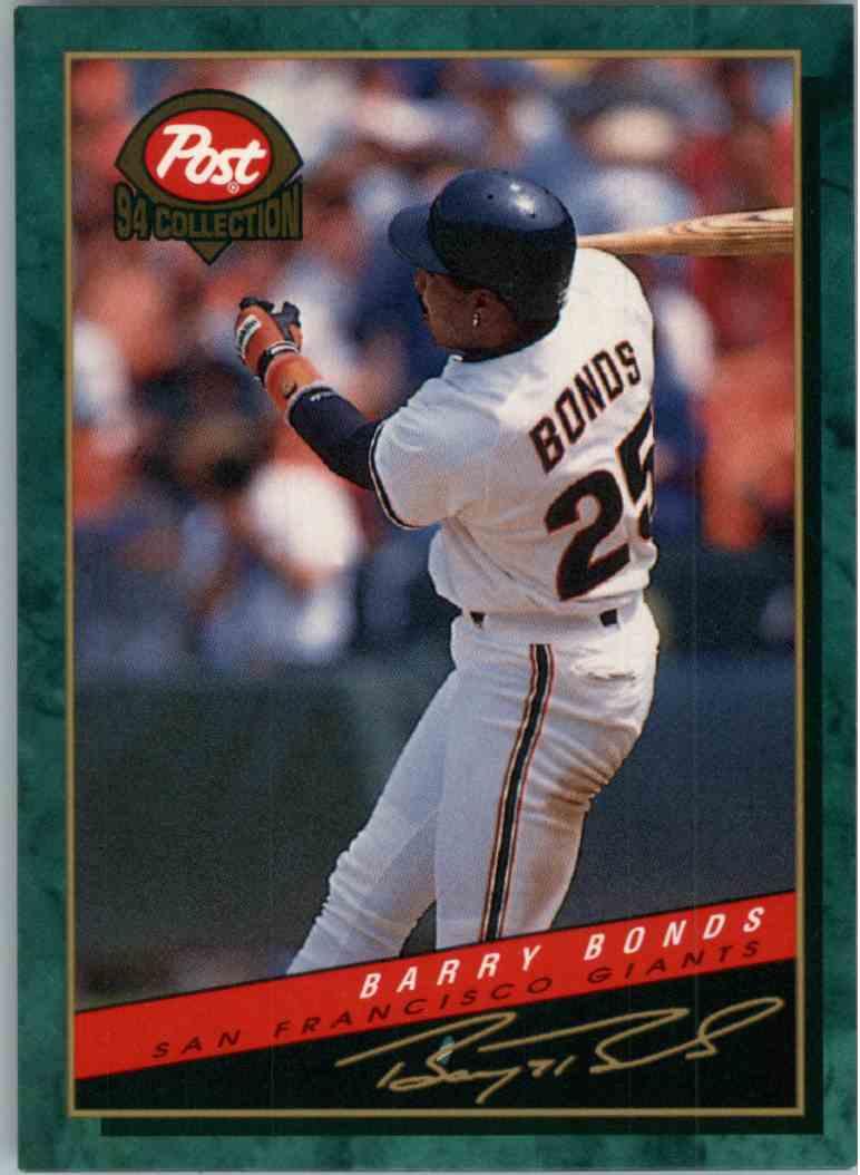 1994 Post Collection Barry Bonds 11 Of 30 On Kronozio