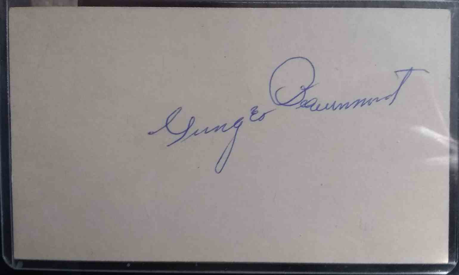 1899 3X5 Ginger Beaumont card front image