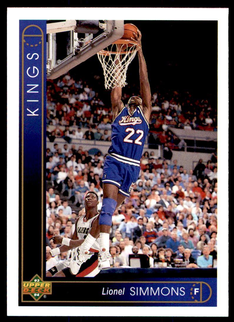 1993 94 Uppder Deck Lionel Simmons 99 on Kronozio