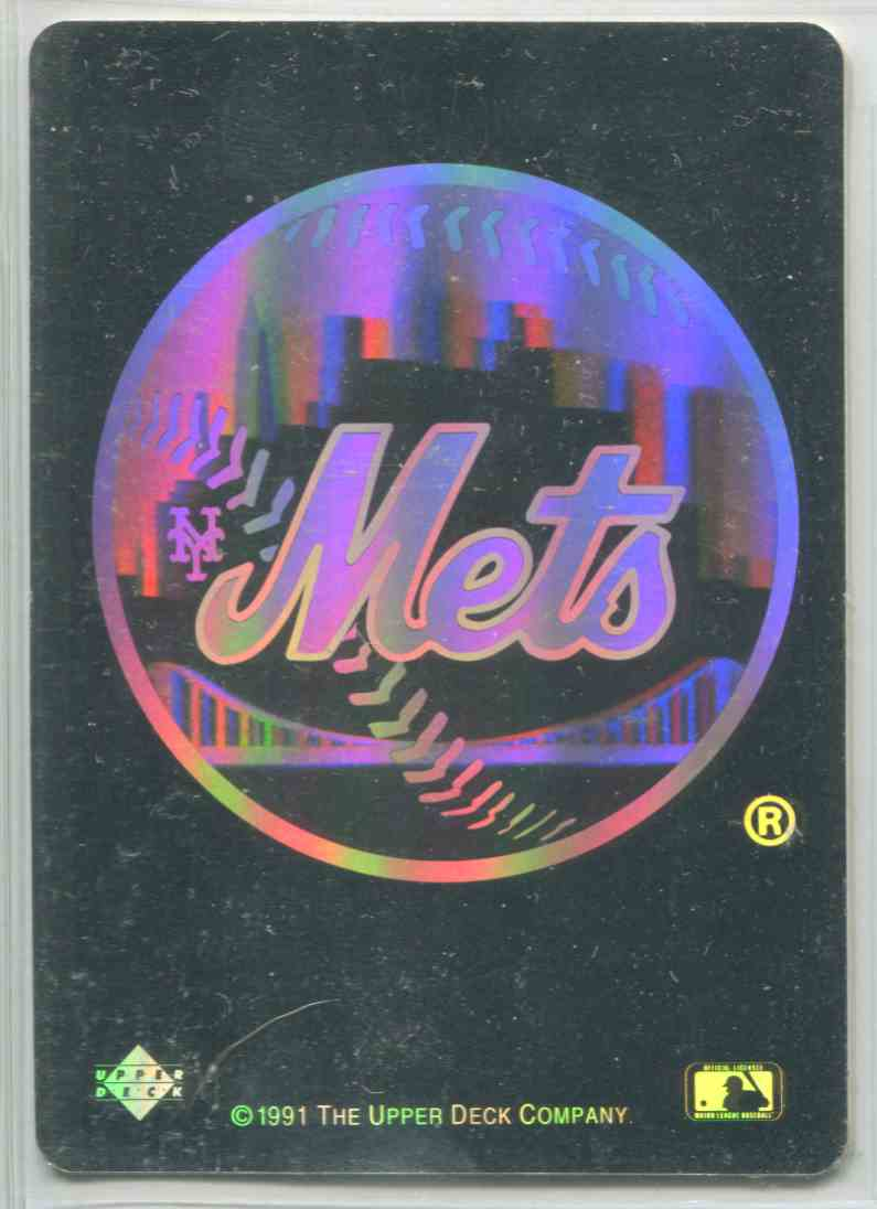 1991 Upper Deck Team Logo Hologram Inserts Mets Nno On Kronozio