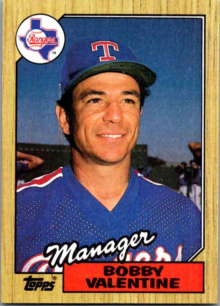1987 Topps Baseball Bobby Valentine 118 On Kronozio