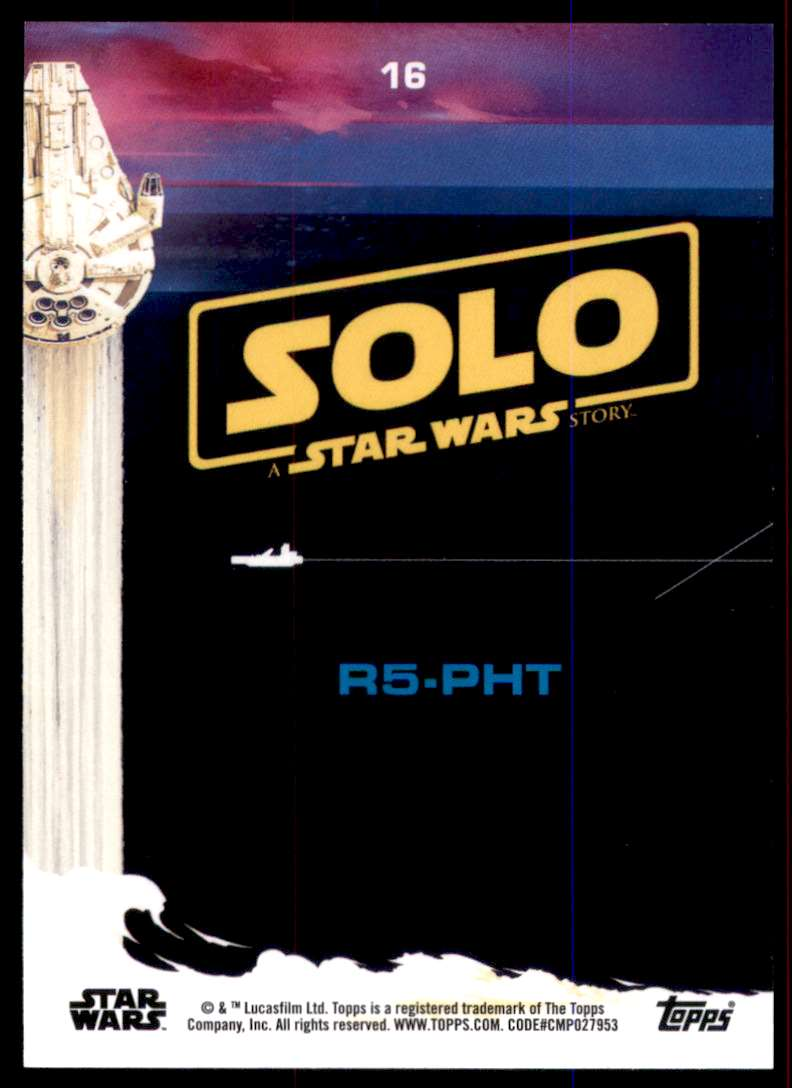 2018 Solo A Star Wars Story R5-Pht #16 card back image