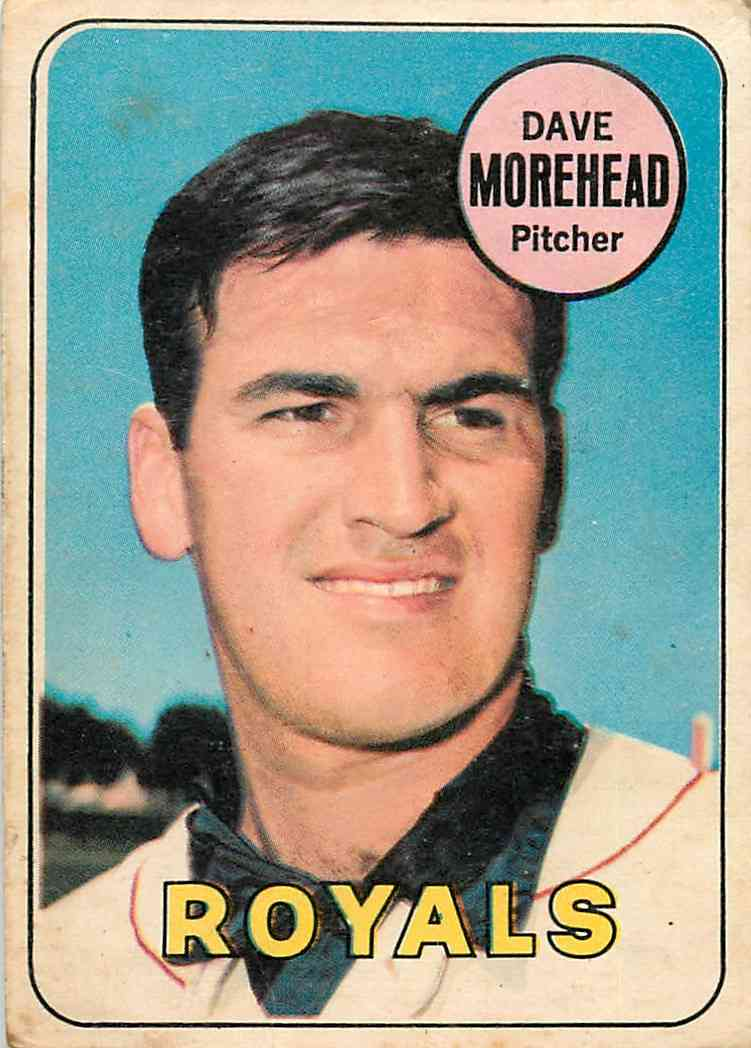 1969 Topps O-Pee-Chee Dave Morehead #29 card front image