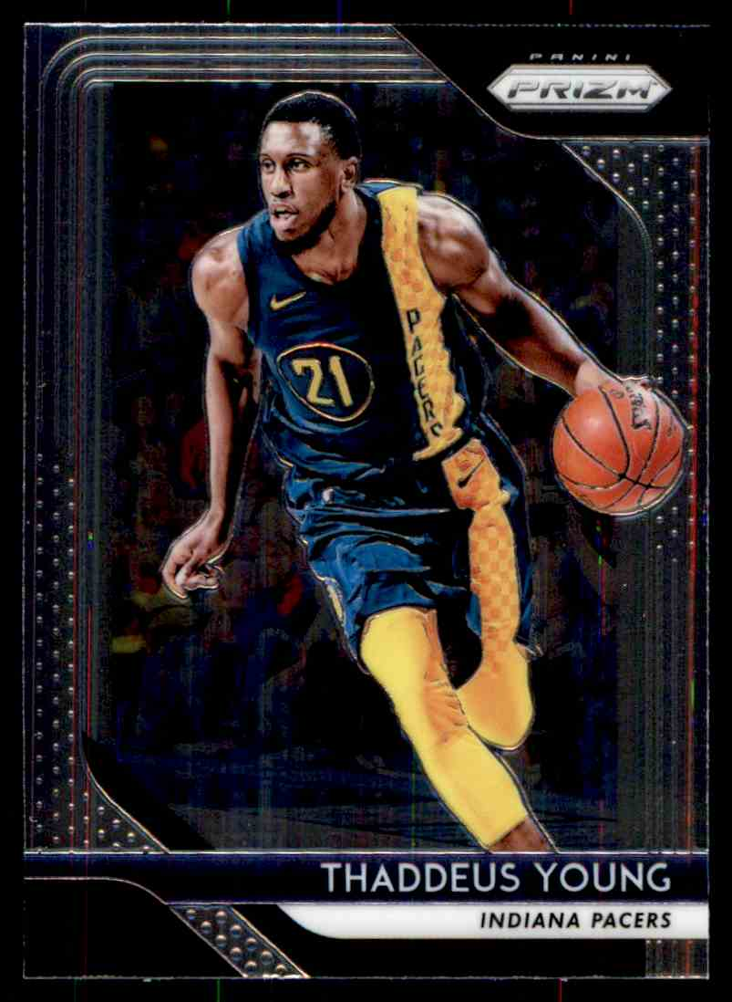 Thaddeus 2018 >> Details About 2018 19 Panini Prizm Thaddeus Young Indiana Pacers 154