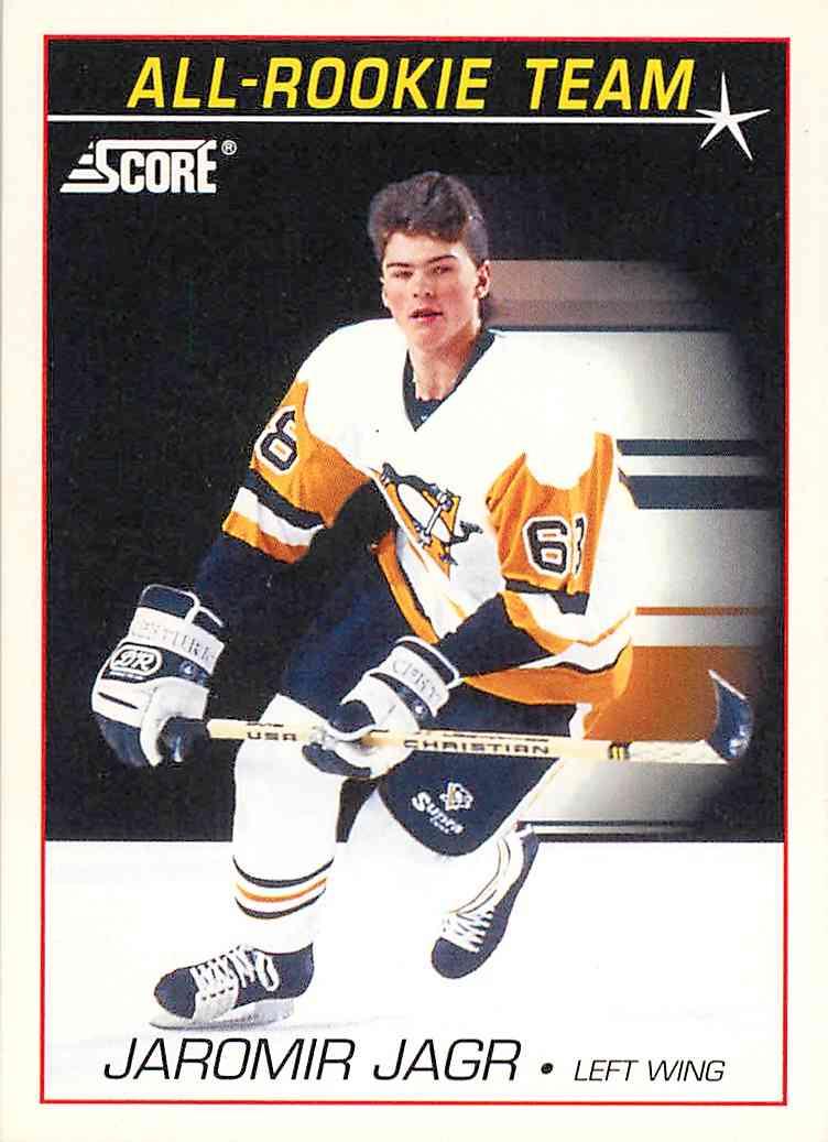 1991 92 Score All Rookie Team Jaromir Jagr 351 On Kronozio