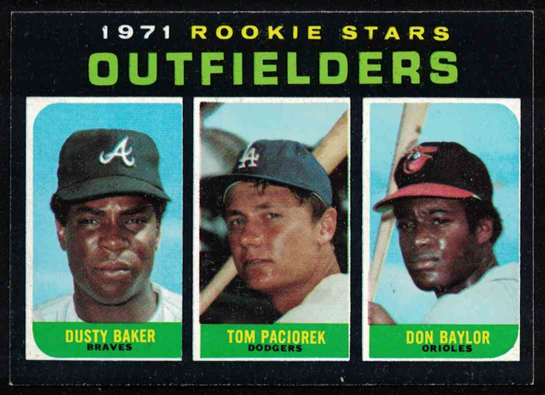 1971 Topps Dusty Baker, Tom Paciorek, Don Baylor High Number NM-MT #709 card front image