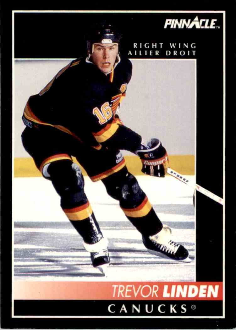 1992-93 Pinnacle French Trevor Linden #47 card front image