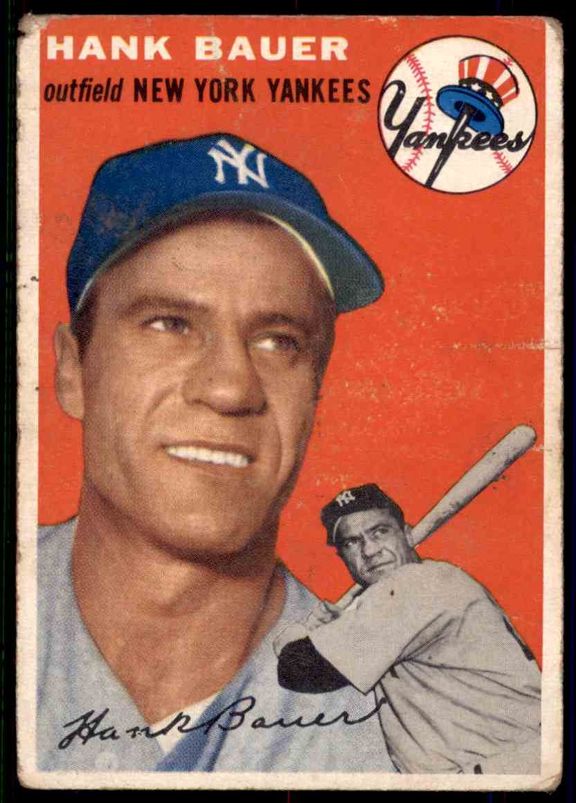 1954 Topps Hank Bauer #130 card front image