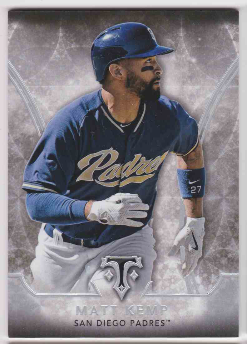 2015 Topps Triple Threads Matt Kemp #2 card front image