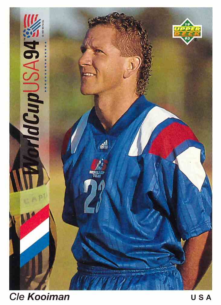 1993 1993 Upper Deck World Cup 94 Preview English/Spanish #23 Cle Kooiman 1993 Upper Deck World Cup 94 Preview English/Spanish Cle Kooiman #23 card front image