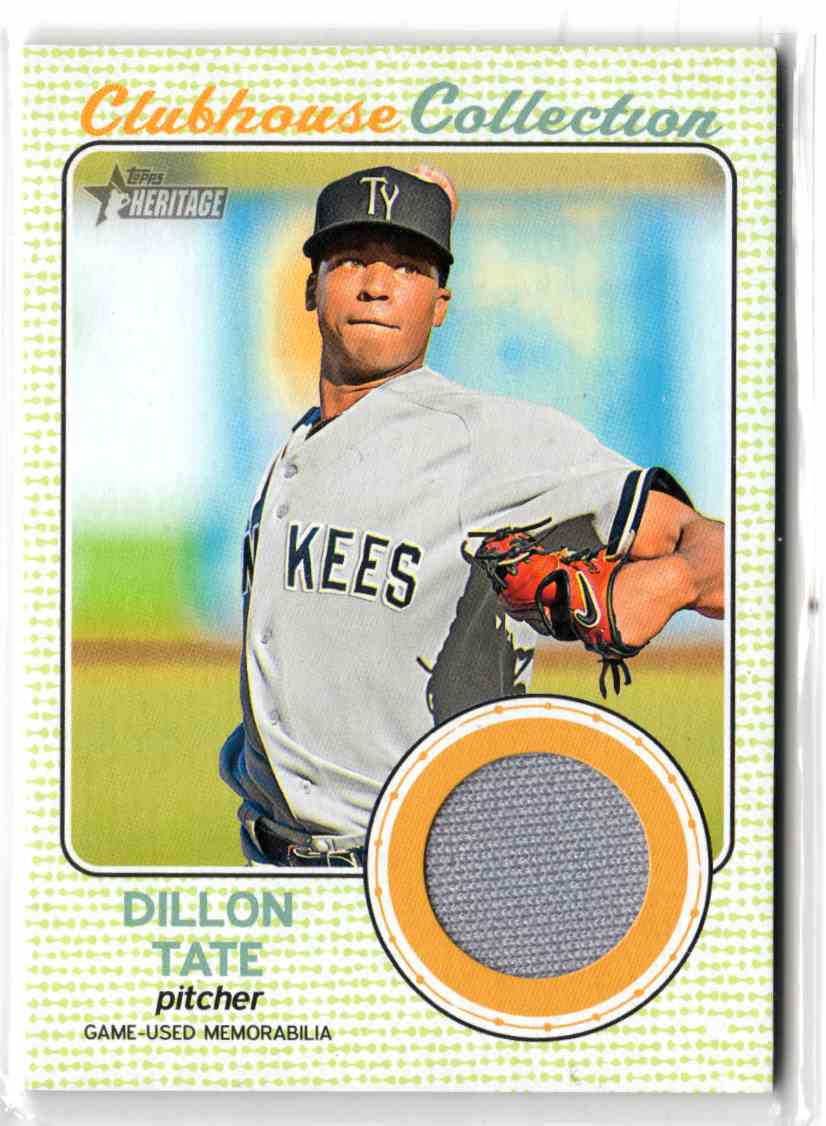 2017 Topps Heritage Minor League Edition Clubhouse Collection Relics Dillon Tate #CCR-DT card front image
