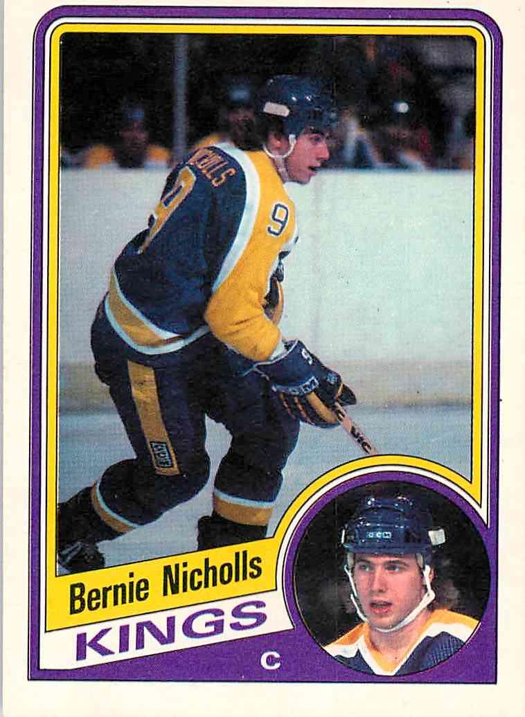 1984-85 O-Pee-Chee Bernie Nicholls #88 card front image