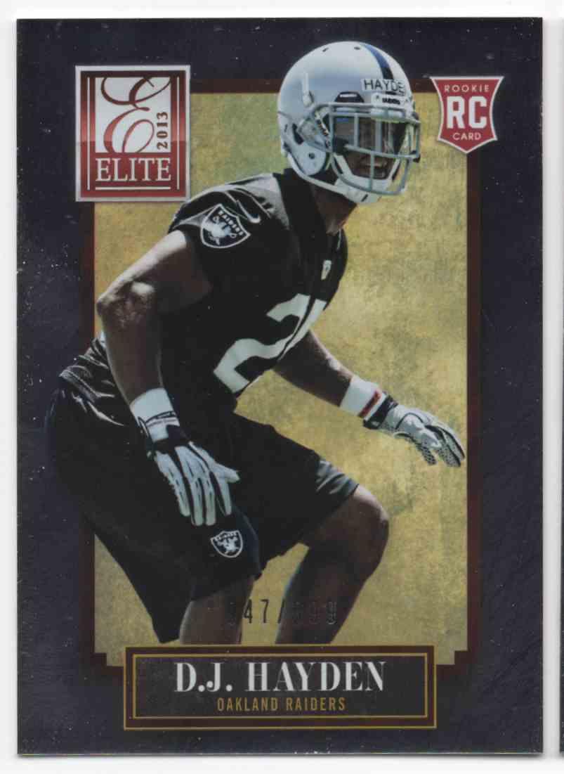 2013 Elite D.J. Hayden #115 card front image