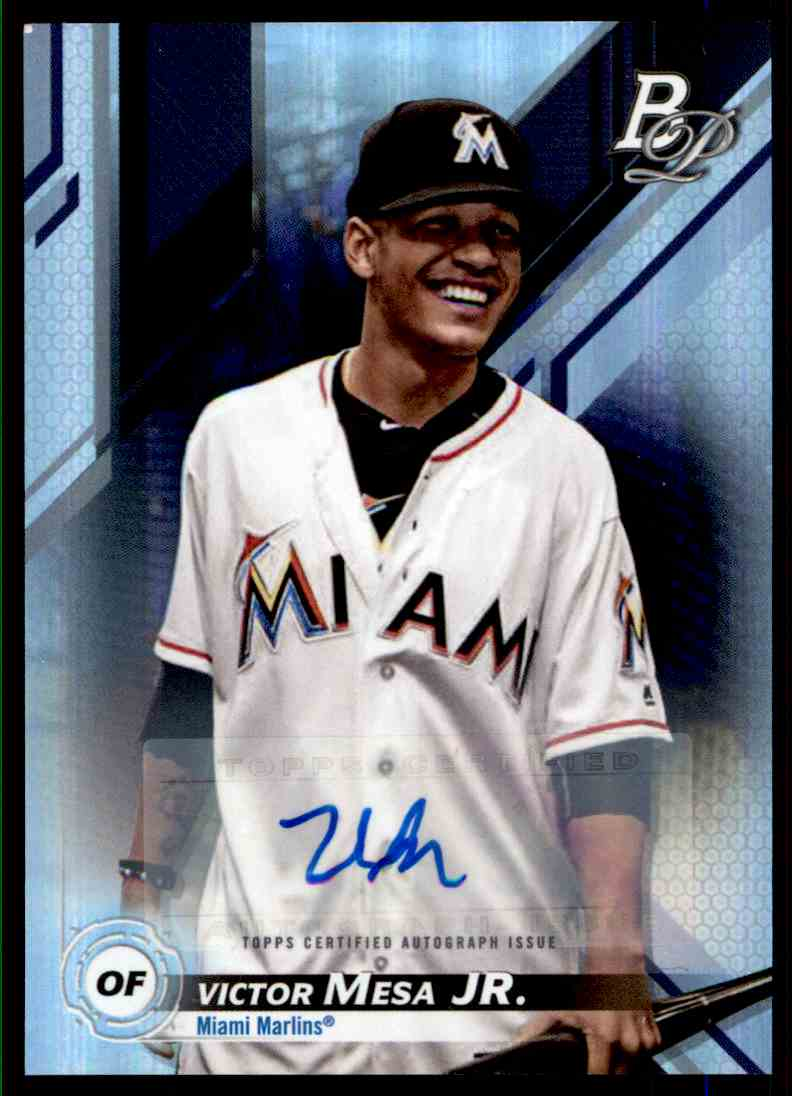 2019 Bowman Platinum Victor Mesa JR #TOP14 card front image