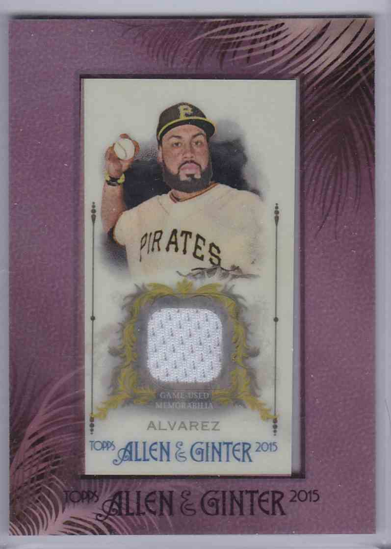 2015 Topps Allen & Ginter Mini Framed Relic Pedro Alvarez #FMR-PA card front image