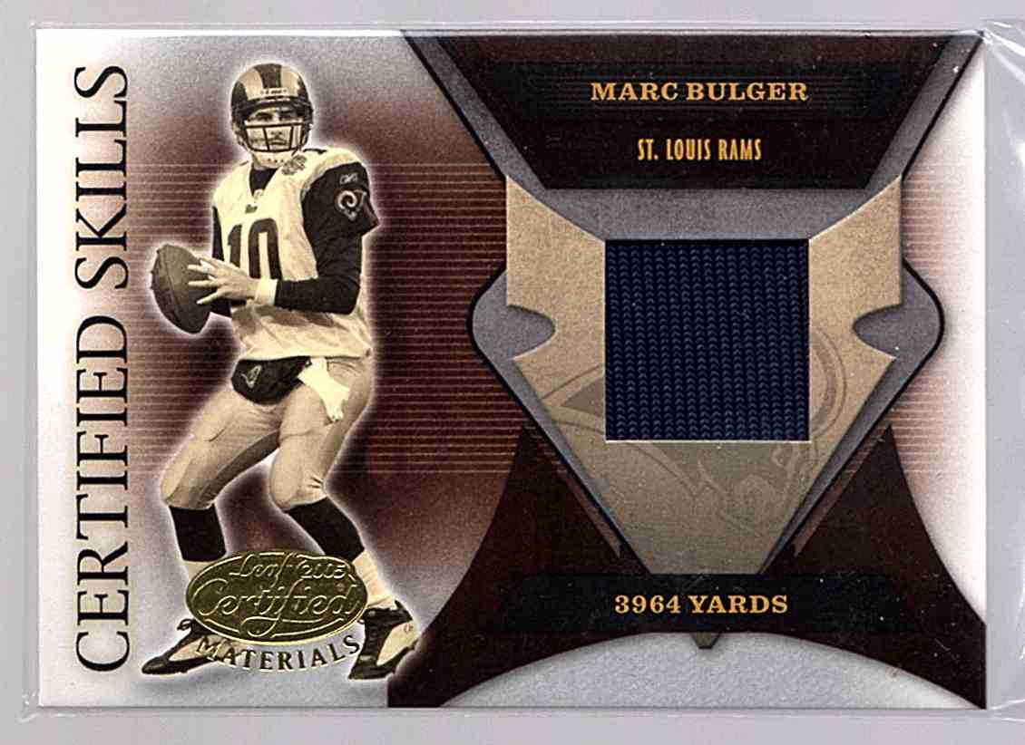 2005 Leaf Certified Materials Certified Skills Jersey Marc Bulger #CS-6 card front image