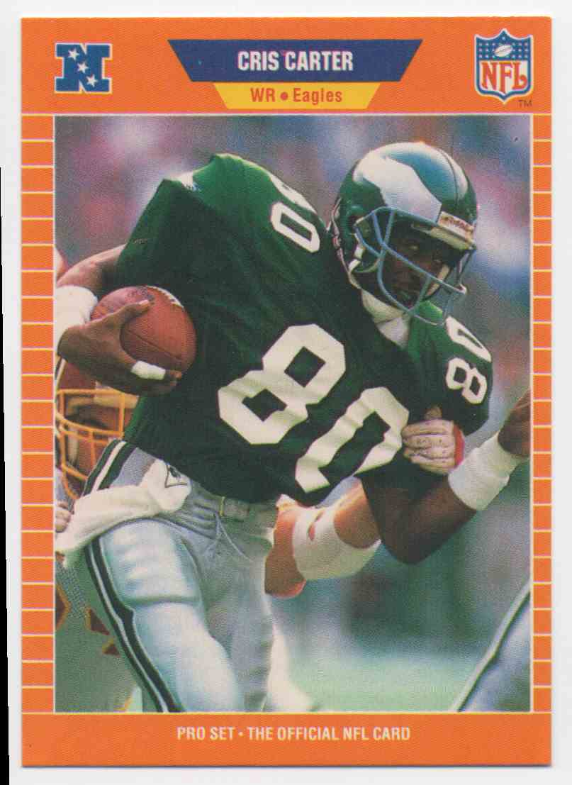 1989 Pro Set Cris Carter #314 card front image