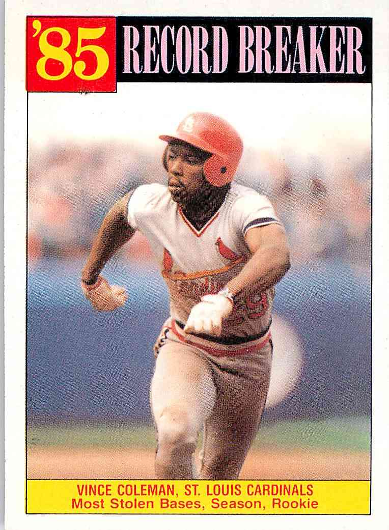 1986 Topps Vince Coleman 201 On Kronozio