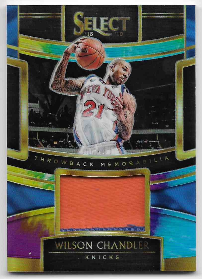 2018-19 Panini Select Throwback Memorabilia Prizms Tie-Dye Tyson Chandler #TM-WCH card front image