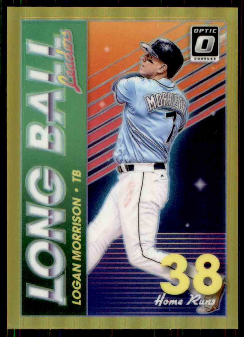2018 Donruss Optic Gold Prizm Long Ball Leaders Logan Morrison #LBL8 card front image
