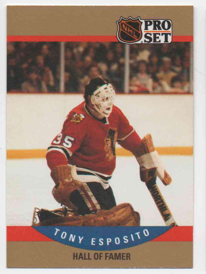 1990-91 Pro Set Tony Esposito #659 card front image
