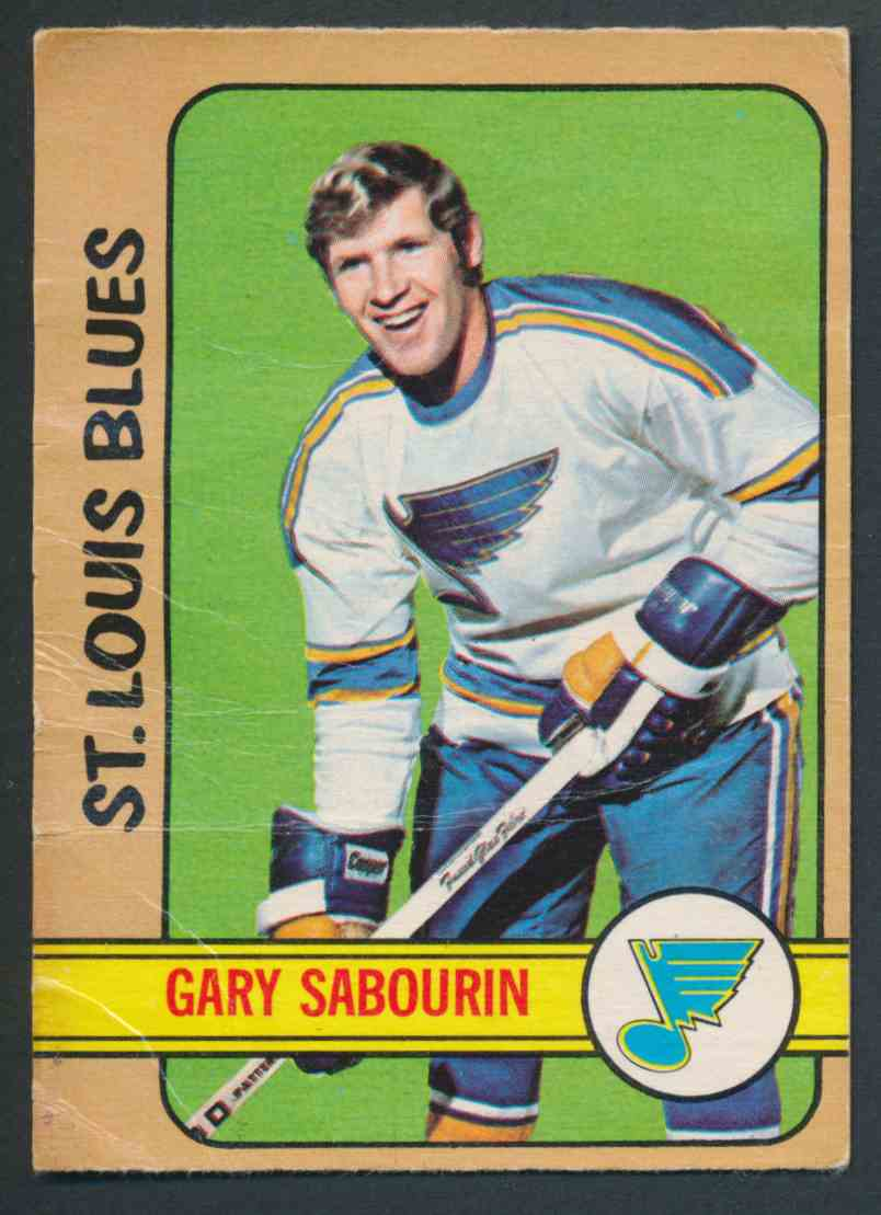 1972-73 O-Pee-Chee Gary Sabourin card front image