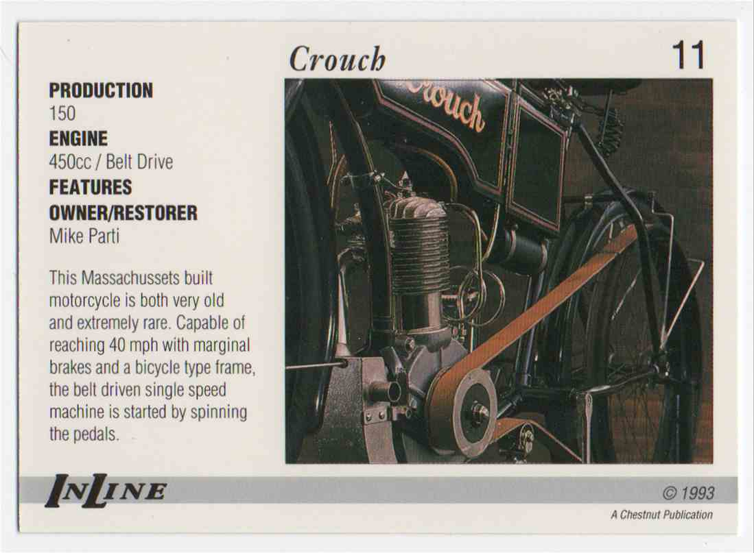 1993 InLine 1906 Crouch #11 card back image