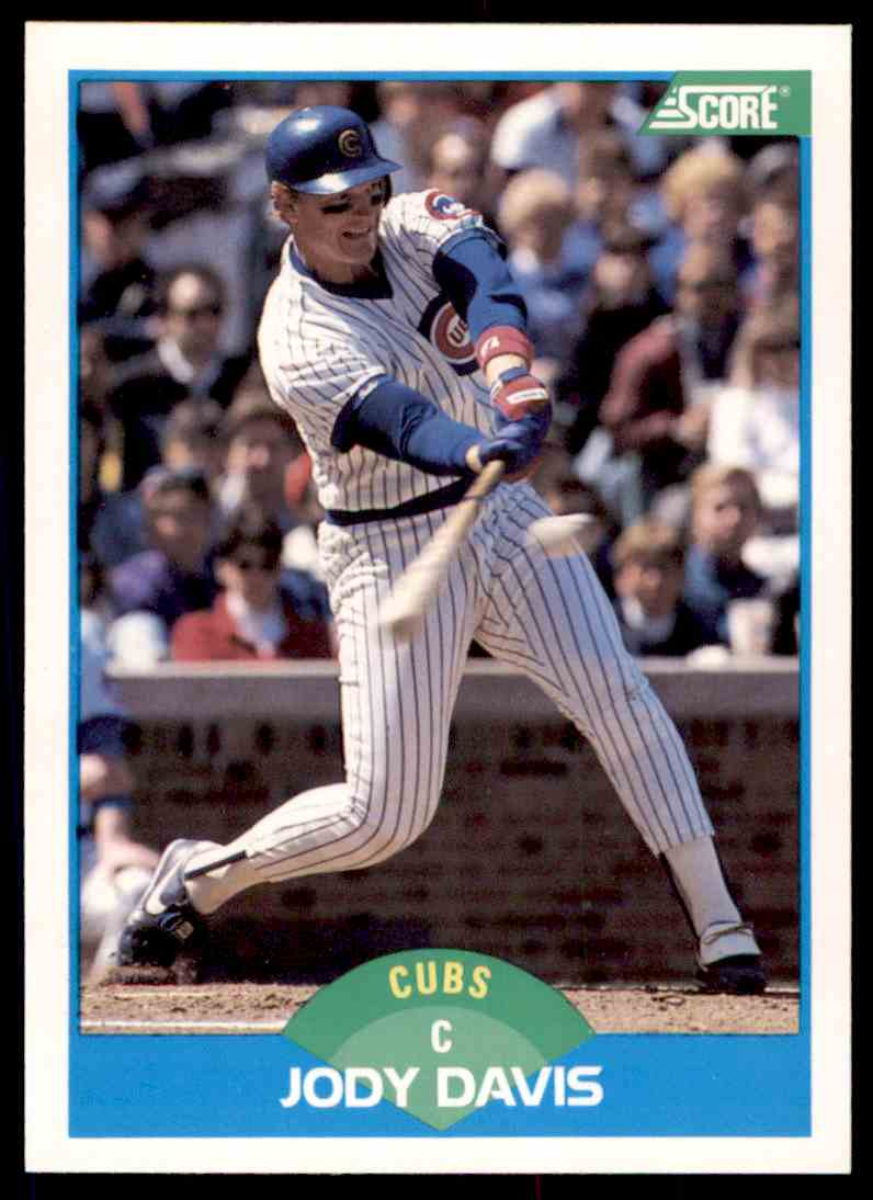 1989 Score Baseball Jody Davis 173 On Kronozio