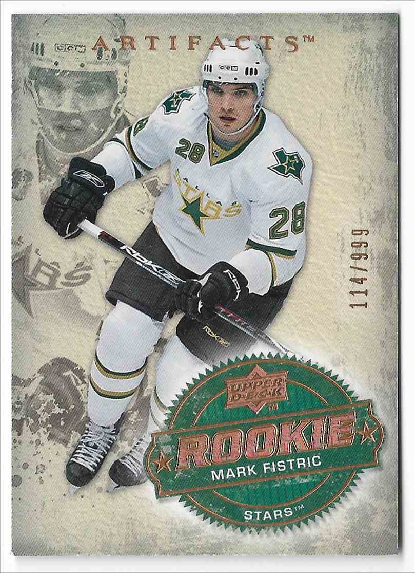 2008-09 Upper Deck Artifacts Mark Fistric #202 card front image