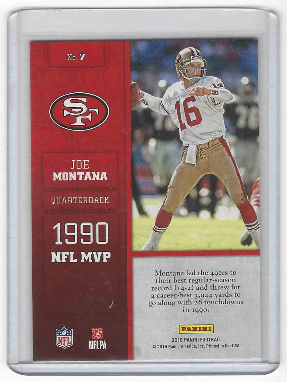 2016 Panini Decorated #7 Joe Montana San Francisco 49ers Football Card