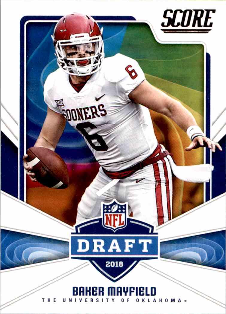 2018 Panini Score Draft Baker Mayfield #17 card front image